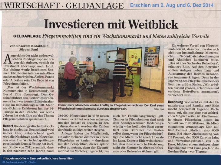 Sachwertcenter21 GmbH, Ihr Profi für Pflegeimmobilien