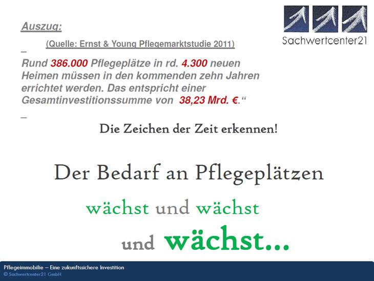 Der Pflegeplatzbedarf steigt: Pflegeimmobilien, Pflegeappartements aus Tiefenbach