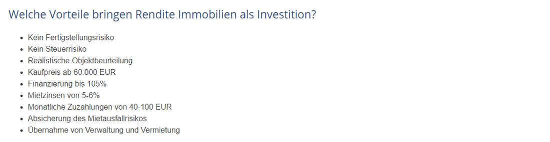 Investitionen in  Mücke